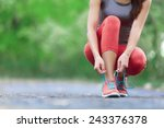 running shoes   closeup of... | Shutterstock . vector #243376378