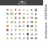 universal icons social media...