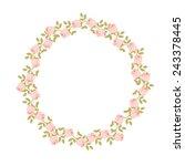 roses decorative romantic frame.... | Shutterstock .eps vector #243378445