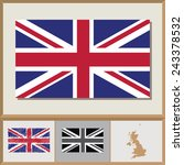 national flag and country... | Shutterstock .eps vector #243378532