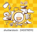 vector illustration of... | Shutterstock .eps vector #243378592