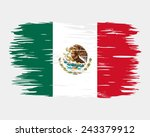 the flag of the mexico. painted ... | Shutterstock .eps vector #243379912