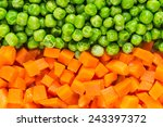 Pea And Carrot Background