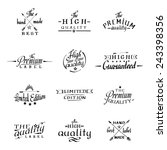 calligraphy and lettering. hand ... | Shutterstock .eps vector #243398356