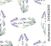 watercolor floral lavender... | Shutterstock .eps vector #243402835