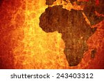 grunge vintage scratched africa ... | Shutterstock . vector #243403312