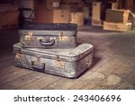 old vintage suitcases in a... | Shutterstock . vector #243406696