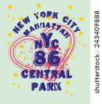 new york city vector art | Shutterstock .eps vector #243409888
