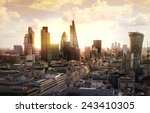 london sunset. view on business ... | Shutterstock . vector #243410305