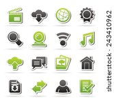 internet and website icons  ... | Shutterstock .eps vector #243410962
