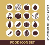 food icons | Shutterstock .eps vector #243412495