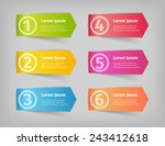 six numbered steps options... | Shutterstock .eps vector #243412618