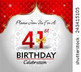 celebrating 41 years birthday ... | Shutterstock .eps vector #243415105