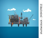 Offshore Oil Platform  In The ...