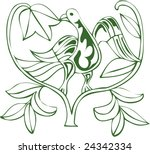 vector of artistic animal...   Shutterstock .eps vector #24342334