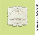 invitation or wedding card ... | Shutterstock . vector #243424342
