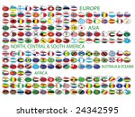 flags of the world | Shutterstock .eps vector #24342595