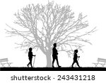 vector silhouette of people... | Shutterstock .eps vector #243431218