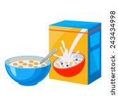 cereal | Shutterstock .eps vector #243434998