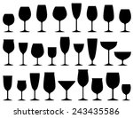 set of isolated wine and... | Shutterstock .eps vector #243435586
