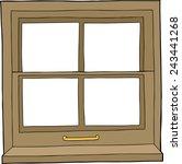 isolated hand drawn cartoon... | Shutterstock .eps vector #243441268
