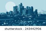 los angeles skyline | Shutterstock .eps vector #243442906