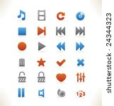 set of beautiful web icons vol... | Shutterstock .eps vector #24344323