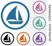 ship icon | Shutterstock .eps vector #243446656