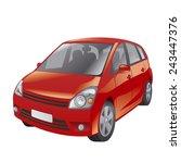 red car   Shutterstock .eps vector #243447376
