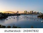 sydney sunrise at waverton ... | Shutterstock . vector #243447832