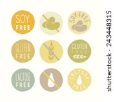 soy free  gluten free  lactose...   Shutterstock .eps vector #243448315