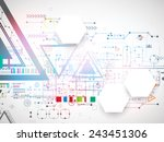 abstract technology triangle... | Shutterstock .eps vector #243451306