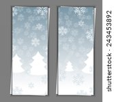 set of banner templates with... | Shutterstock . vector #243453892