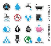 world water day icons   ecology ... | Shutterstock .eps vector #243456715