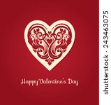 valentines day greeting card... | Shutterstock .eps vector #243463075