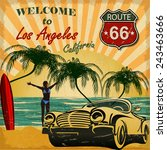 welcome to los angeles ... | Shutterstock .eps vector #243463666