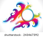 abstract colorful artistic... | Shutterstock .eps vector #243467392