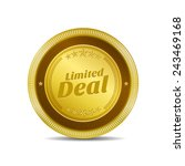 limited deal golden vector icon ...   Shutterstock .eps vector #243469168