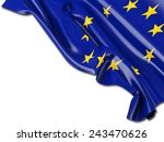 europe eu flag with white | Shutterstock . vector #243470626