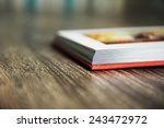 closeup of photobook cornet to... | Shutterstock . vector #243472972