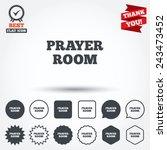 prayer room sign icon. religion ... | Shutterstock .eps vector #243473452