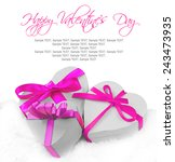 heart shaped gifts on white... | Shutterstock . vector #243473935