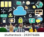 diversity people cloud... | Shutterstock . vector #243476686