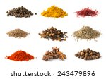 different spices set on white... | Shutterstock . vector #243479896