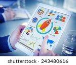 new business chart innovation... | Shutterstock . vector #243480616