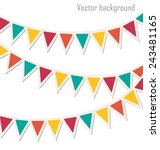 set of multicolored flat... | Shutterstock .eps vector #243481165