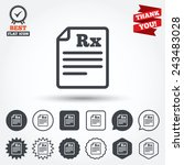 medical prescription rx sign... | Shutterstock .eps vector #243483028
