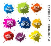 vector colorful sale blots  ... | Shutterstock .eps vector #243486538