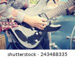 playing the guitar | Shutterstock . vector #243488335