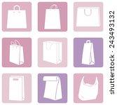 vector set of pink water icons | Shutterstock .eps vector #243493132